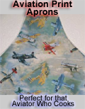 [Click to Order] Aviation Print Aprons !
